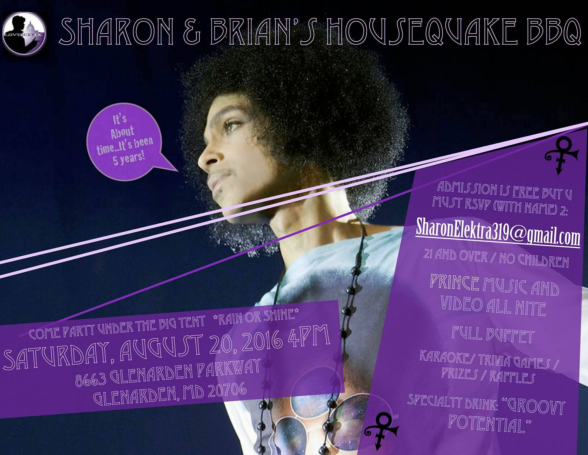 August 20 2016 Prince Party